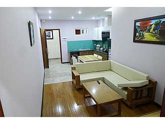 Affordable, new, fully furnished  02 BRs serviced apartment to lease at Au Co, with balcony.