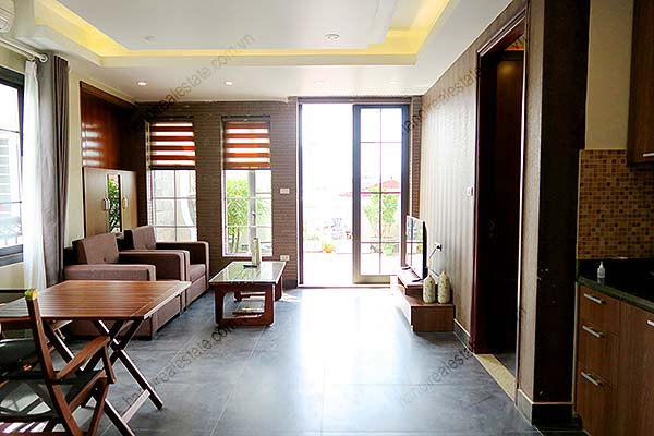 Modern Apartment With Large Balcony Nice Terrace Ba Dinh