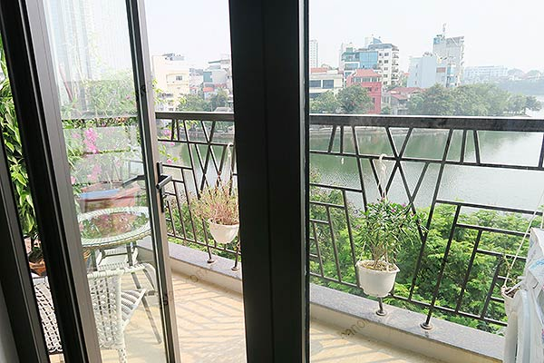 Beautiful Lake View Studio Apartment For Rent In Truc Bach