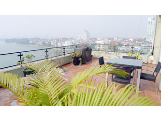 Beautiful Penthouse in Tay Ho, big terrace, panorama view of West Lake, 3 beds