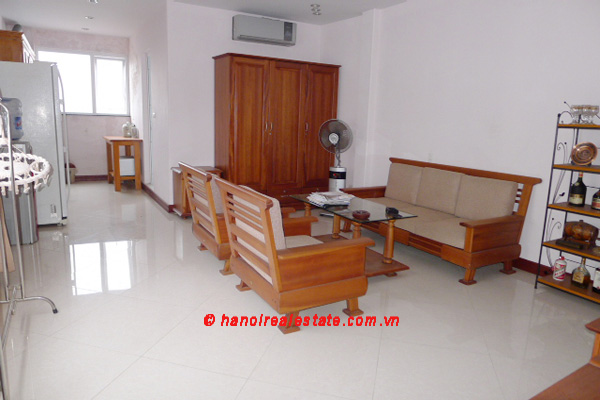 Bright one bedroom apartment on 9th floor nearby Hoan Kiem Lake for lease