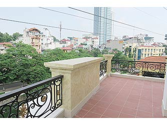 Brand new 02 BRs apartment to let in Ba Dinh with lake view & Large balcony