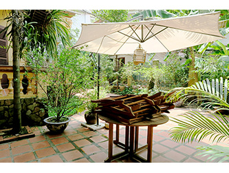 Charming Character House with large Yard for rent in Tay Ho, Hanoi