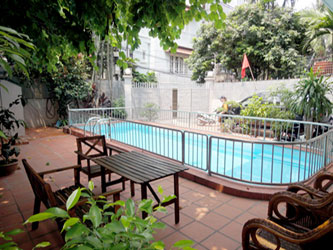 Great location and a bright clean villa with out-door pool in Tay Ho