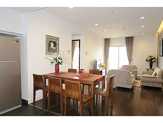 Natural Light 3-bedroom apartment for rent at Lancaster Hanoi