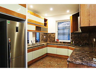 Nice 3br House for rent in Quang An ward, Tay Ho, modern kitchen