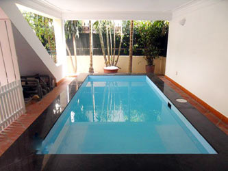 Nice furnished house with pool for rent in Xom Chua Tay Ho District