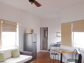 Top floor 02BRs duplex serviced apartment to let at Dao Tan Street, French style
