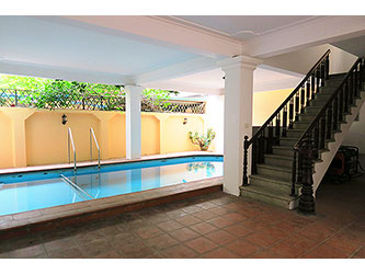 Villa for rent in To Ngoc Van with Yard and Pool, 5 BR, Good quality
