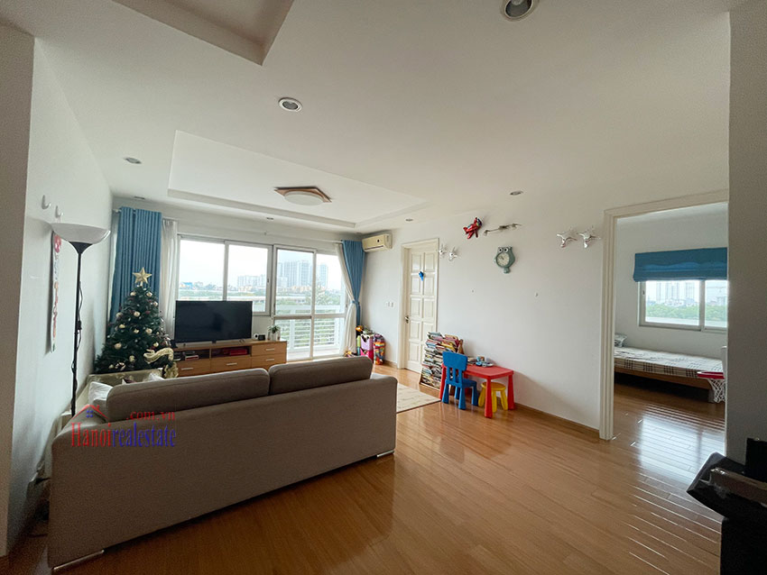Bright and cozy, wooden floor 04BRs apartment with open view at E1 Ciputra 3