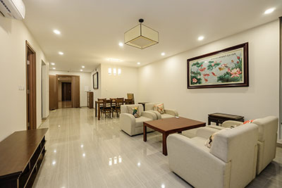 Ciputra apartment in L building: 03 bedrooms, brand new and wooden furniture