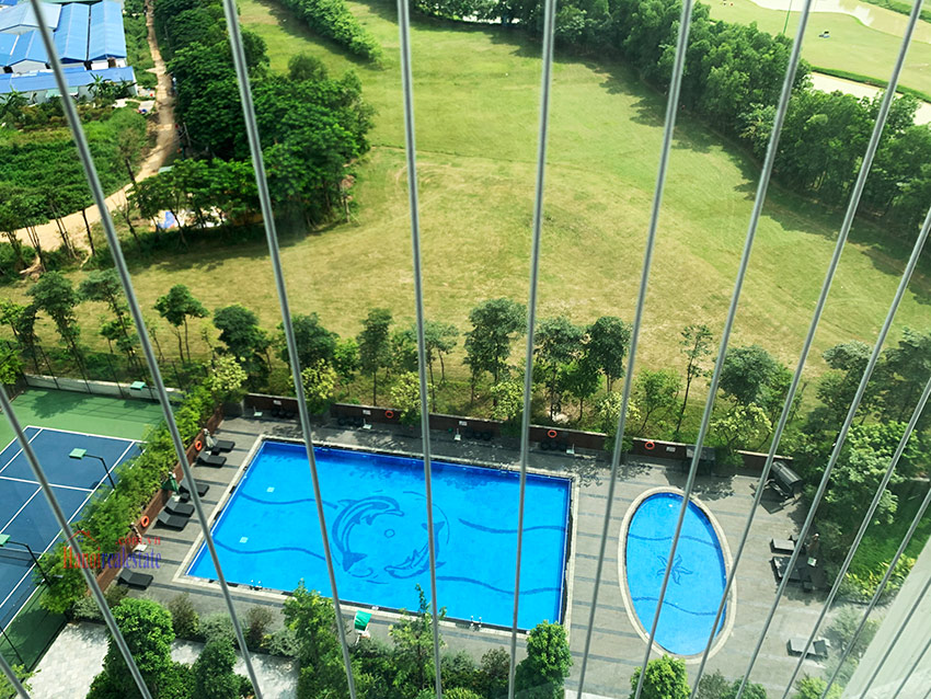 Ciputra: Golf course view 03BRs apartment in the brand new L4 8