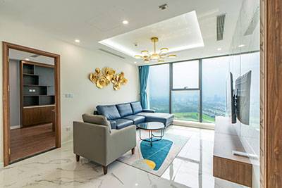 Sunshine City: View to Ciputra Golf Course from a 4-bedrooms duplex on high floor of S6