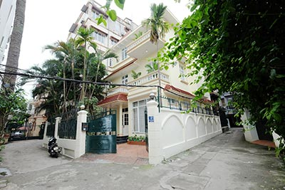 French colonial style house with big courtyard on To Ngoc Van to rent