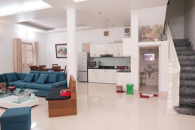 Fully furnished, 04BRs house to rent in Tay Ho, big terrace