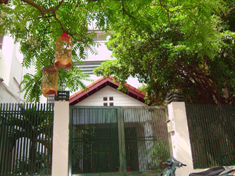 House in Hai Ba Trung Hanoi with nice garden, furnished