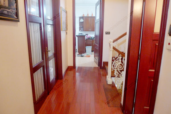 Large  garage, beautiful house for rent in Ba Dinh, Hanoi 16