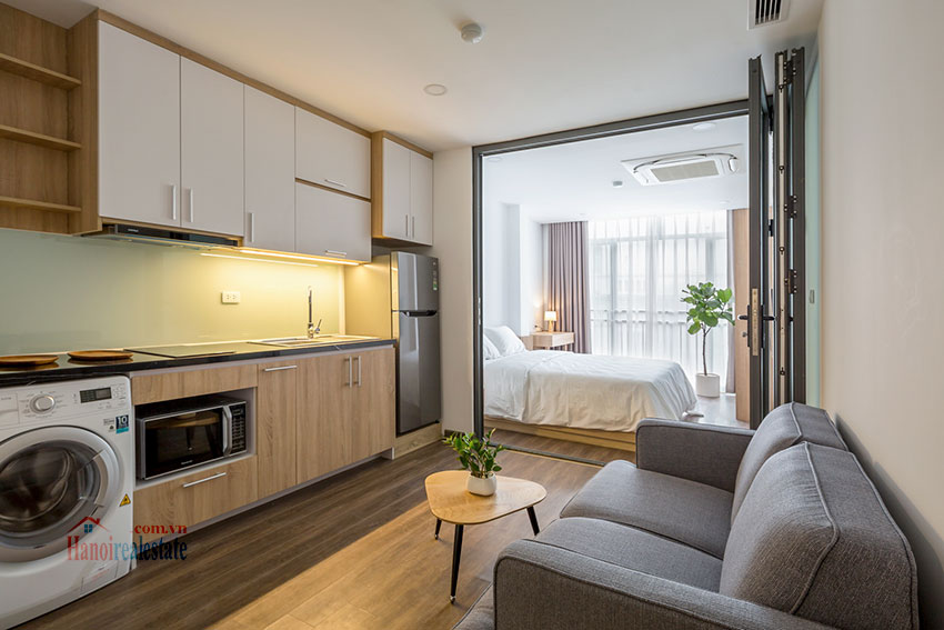 Lovely brand new studio apartment on Xuan Dieu Rd 1