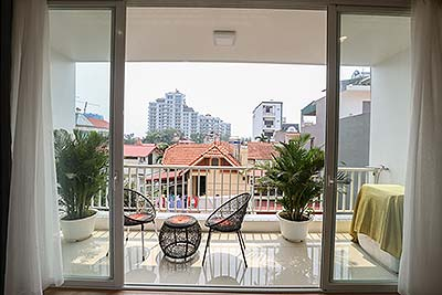 Modern style apartment with 02 bedrooms in Dang Thai Mai, nice view