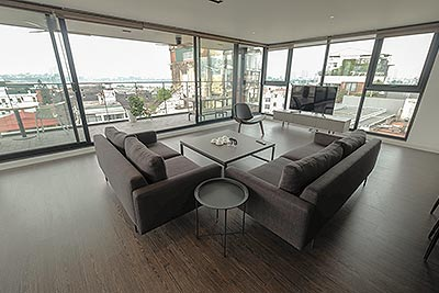 Modern top floor 3-bedroom duplex Apartment on To Ngoc Van