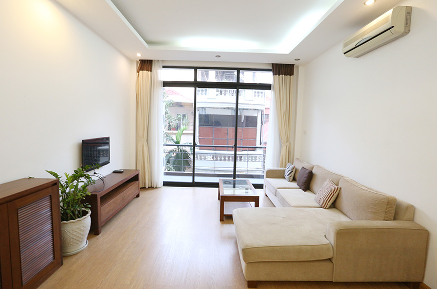 Natural light, spacious apartment for rent in Ba Dinh