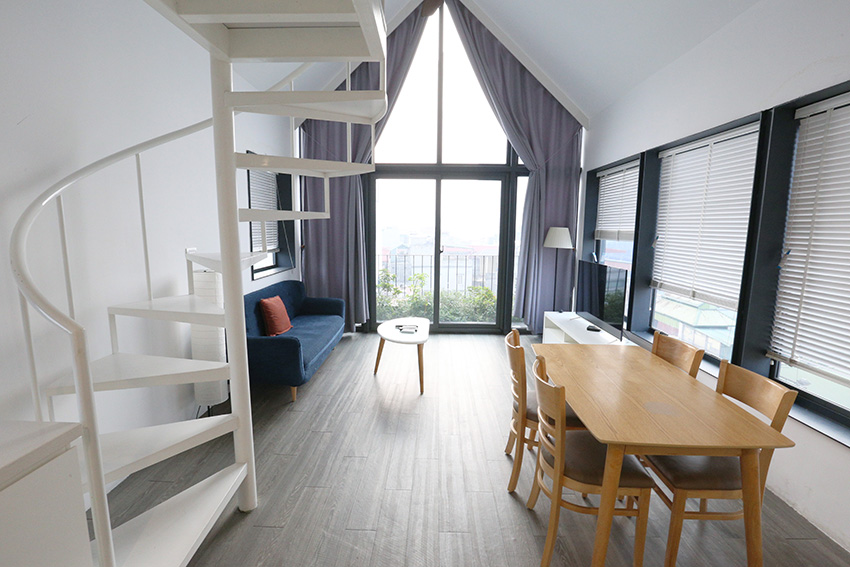Nice duplex apartment for rent in Ba Dinh district