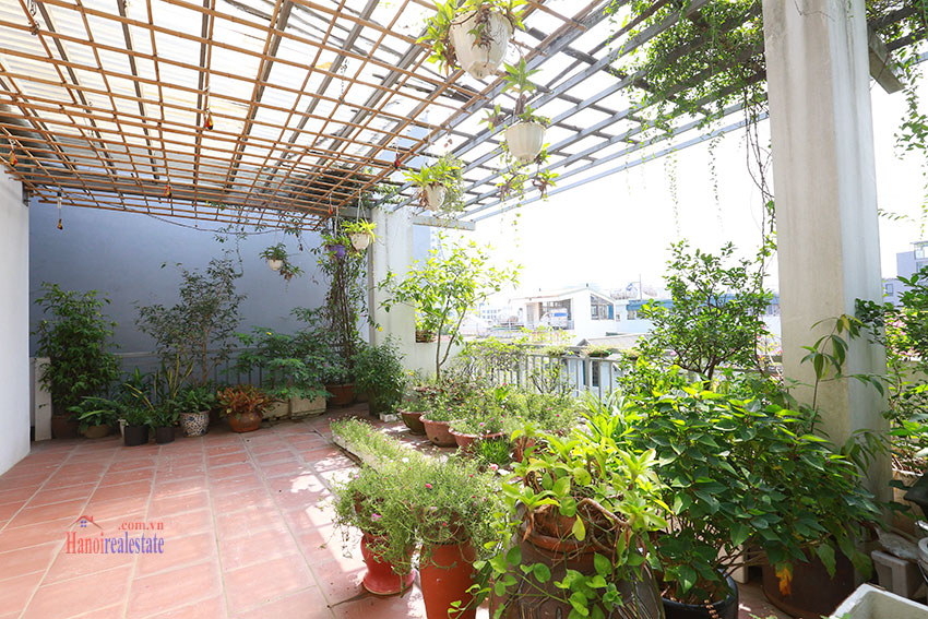 Old but Gold 01 bedroom apartment on To Ngoc Van Road, brick wall and garden terrace 11