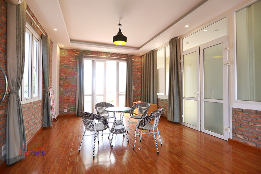 Old but Gold 01 bedroom apartment on To Ngoc Van Road, brick wall and garden terrace 2