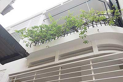 Partly furnished house with big terrace in Hanoi City Center to rent