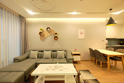 Quiet and modern 2BRS apartment in Ba Dinh, Vinhomes Metropolis