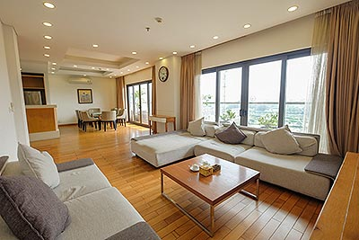 Westlake view Spacious terrace 3 - bedrooms duplex penthouse on Trinh Cong Son